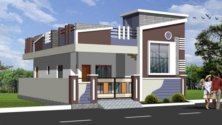 Inspirational Latest Top Single Floor Home Elevations | Small House Plans | Floor House Front Elevation Designs For Single Floor West Facing Picture