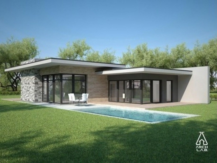 Inspirational Modern Flat Roof House Plans New Modern Single Story House 5 Flat Modern Flat Roofed Houses Image