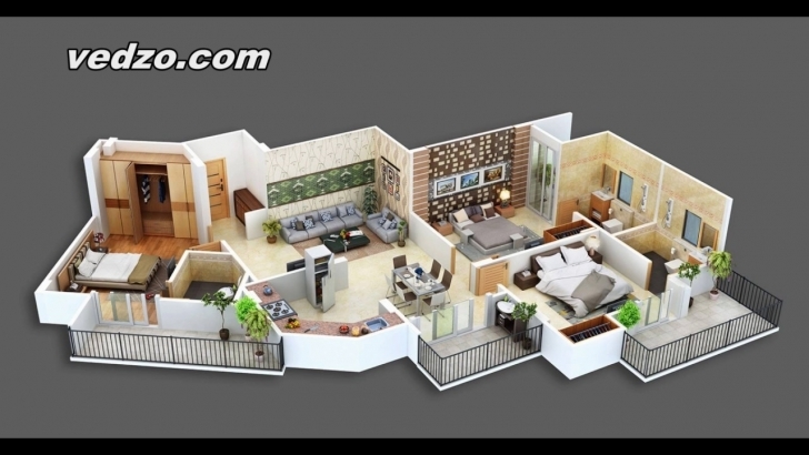 Inspirational One Two Or Three Bedroom House Plans Feb 2017 - Youtube House Design 2017 With Floor Plan Picture