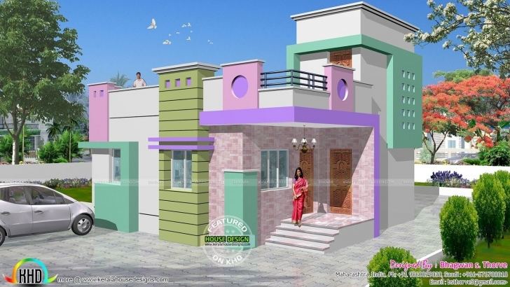 Inspirational Small Budget North Indian Home | Budgeting, Independent House And House Indian House Plans With Photos 750 Pic