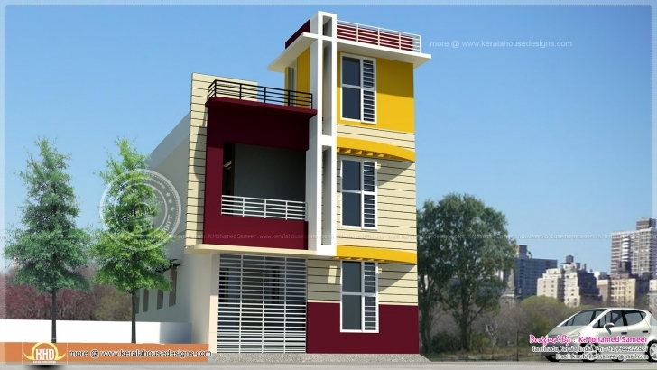 Inspirational Tamilnadu Style 3 Storey House Elevation - Kerala Home Design And 15×50 Front House Design Image Picture