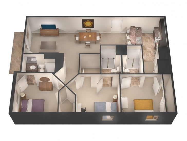 Inspirational Three Bedroom Flat University Flats Splendid Shot Floorplan 20 Three Bedroom Flat Picture