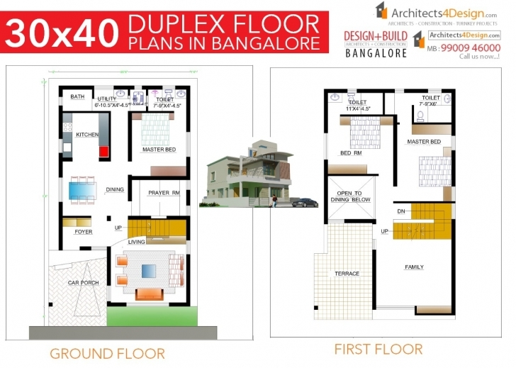 Inspiring 30X40 House Plans In Bangalore For G+1 G+2 G+3 G+4 Floors 30X40 1200 Sqft East Facing House Plan With Car Parking Image
