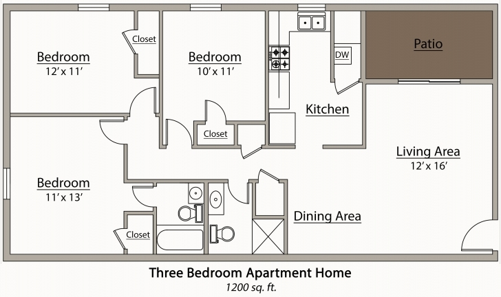 Inspiring Bedroom Designs Plus Architectural Plan Of Two Bedroom Flat Sightly Building Plan Three Bedroom Flat Image