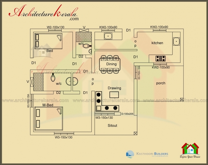 Inspiring Below 1000 Square Feet House Plan And Elevation - Architecture Kerala Kerala Home Plan And Elevation 1000 Sq Ft Image