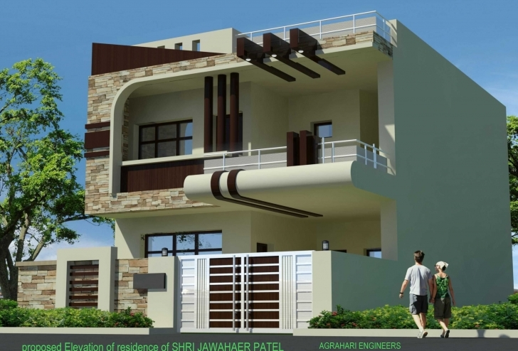 Inspiring Front Elevation Of Single Floor House Kerala Images And Enchanting Modern House Front Elevation Designs For Single Floor Photo