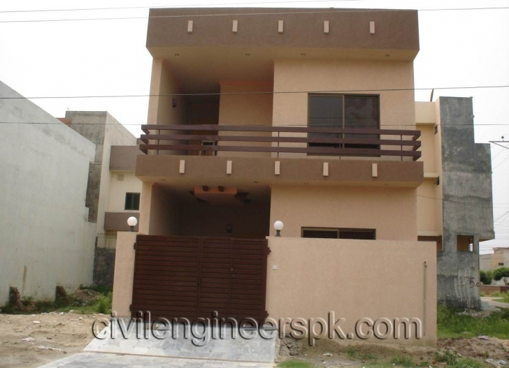 Inspiring Front Views - Civil Engineers Pk 4 Marla House Front Design Picture