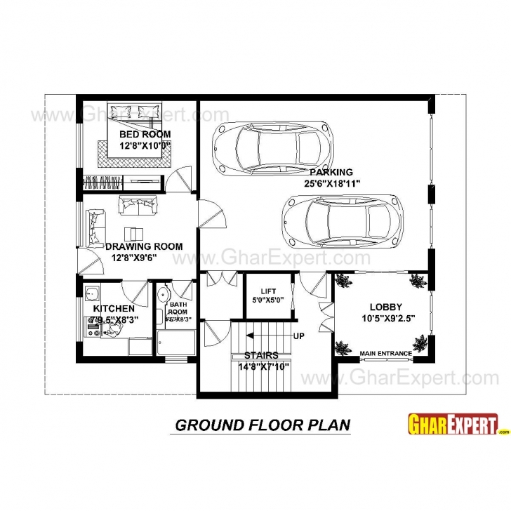 Inspiring House Plan For 40 Feet By 30 Feet Plot (Plot Size 133 Square Yards 40 Feet By 30 Feet House Plans Picture