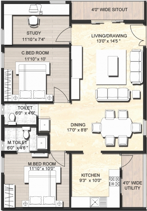 Interesting 1000 Sq Ft House Plans 2 Bedroom Indian Style New House Plans 1500 1500 Square Feet House Plans For Indian Style Image