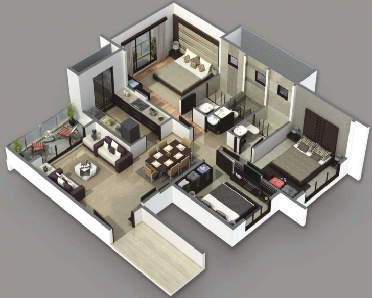 Interesting 1500 Sqft Double Bungalows Designs 3D Types Of Home 2018 With 1500 Sq Ft House Plans 3D Picture