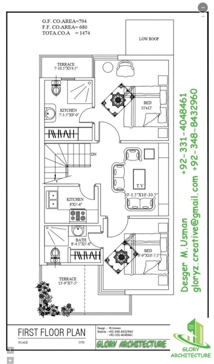 Interesting 20 By 45, Ff | Working Plans | Pinterest | House, Photo Wall And 20 45 House Plan 3D Elevation Image