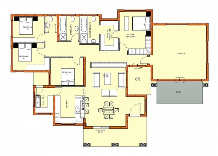 Interesting 3 Bedroom House Plans With Double Garage Pdf Savae Org Lovely South Simple 4 Bedroom House Plans South Africa Photo