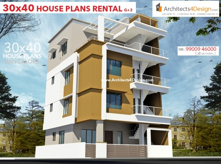 Interesting 30X40 House Plans In Bangalore For G+1 G+2 G+3 G+4 Floors 30X40 30 40 House Plans East Facing Elevation Pic