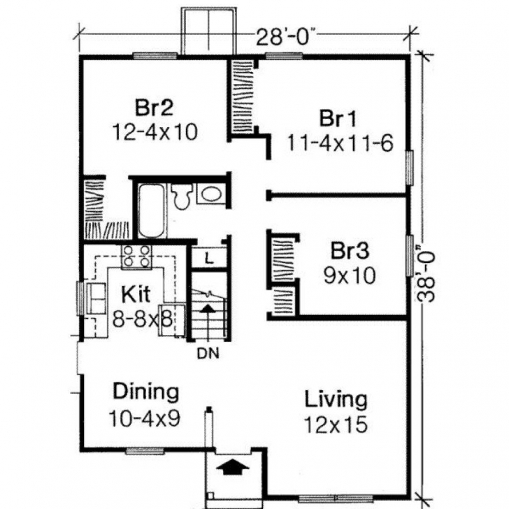 Interesting 50 Awesome Pictures Of Low Cost House Plans | Cottage House Plans Low Cost Three Bedroom House Plans Pic