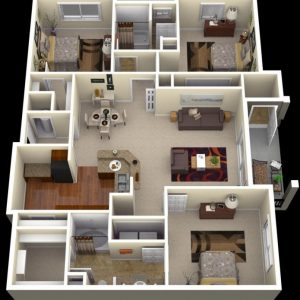 Pictures Of Three Bedroom Flats