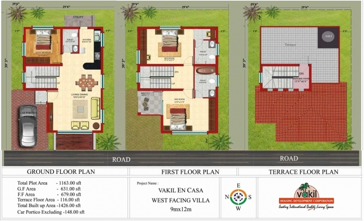 Interesting Bedroom : X Duplex House Plans Luxury For Plan North Facing Site Si 30*45 House Plan North Facing Image