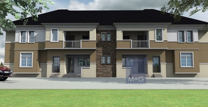 Interesting Contemporary Nigerian Residential Architecture: 4 Units Of 3 Bedroom Nigerian Residential Flats Photo