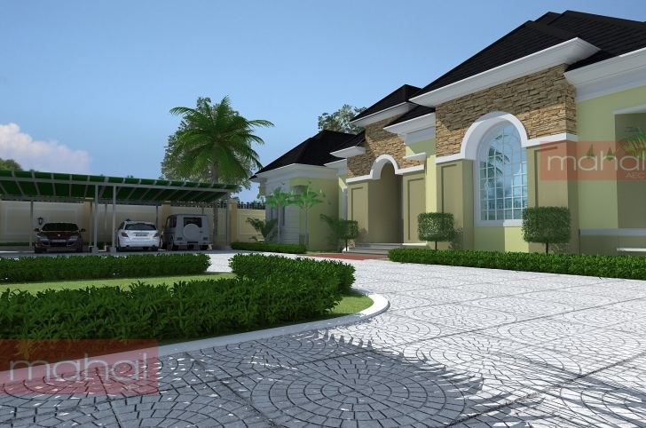 Interesting Contemporary Nigerian Residential Architecture: Luxury 5 Bedroom 5 Bedroom Buildings Picture