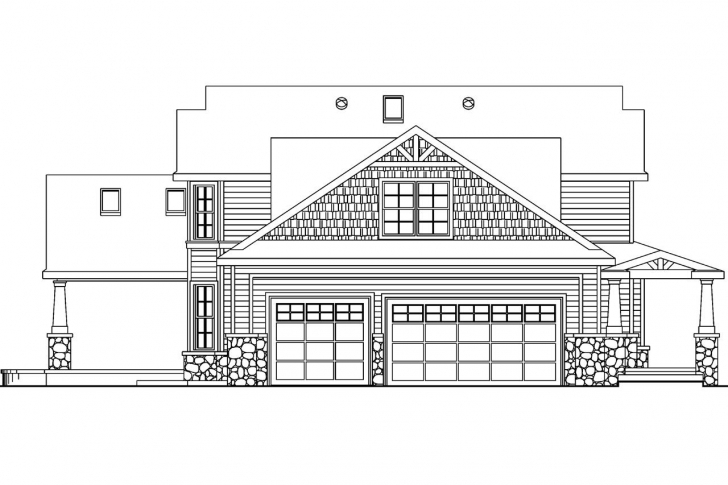 Interesting Craftsman House Plans - Tillamook 30-519 - Associated Designs House Planning With Elevation Picture