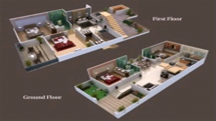 Interesting Floor Plans 25 X 50 - Youtube 20*50 House Plan 2 Bhk 3D View Image