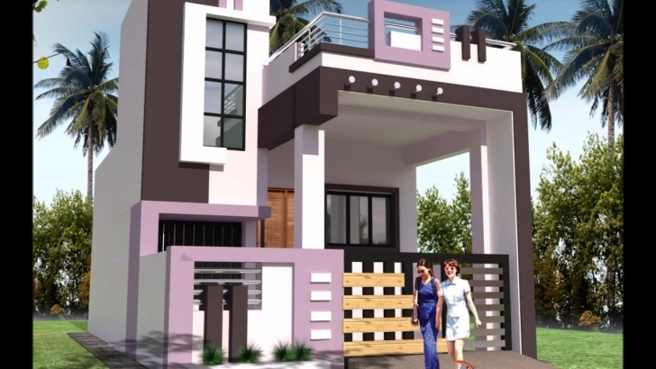 Interesting Front Elevations Of Small House - Youtube House Front Elevation Designs Images Pic
