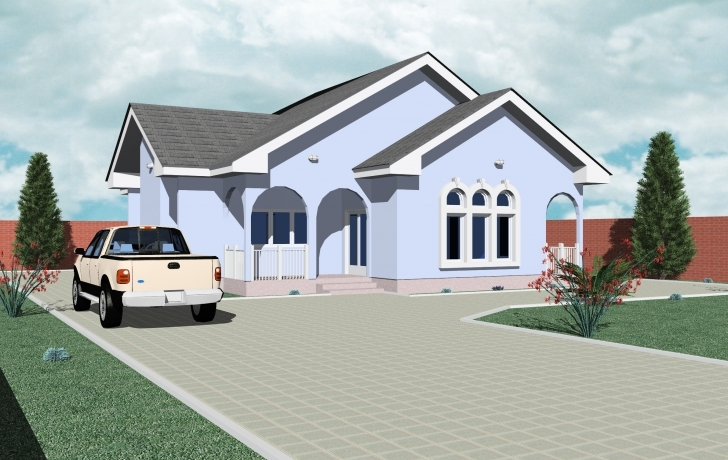 Interesting Home Architecture: Bedroom Bungalow House Designs Plans Ghana On Simple Ghana Houses With Plans Picture