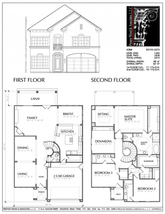 Interesting Home Architecture: Two Storey House Floor Plan Pdf Design With Residential Building Plan Section Elevation Dwg Image