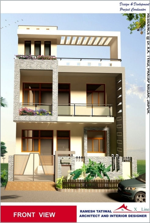 Interesting Home Design Front View - Home Decor Design Interior Ideas Home Front Design In India Image
