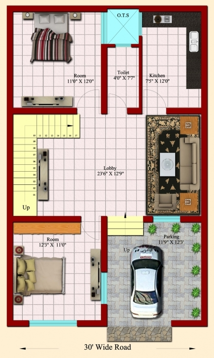 Interesting Home Plan 25 X 45 Inspirational Entrancing 20 X40 House Plans 25 40 House Plan India Image