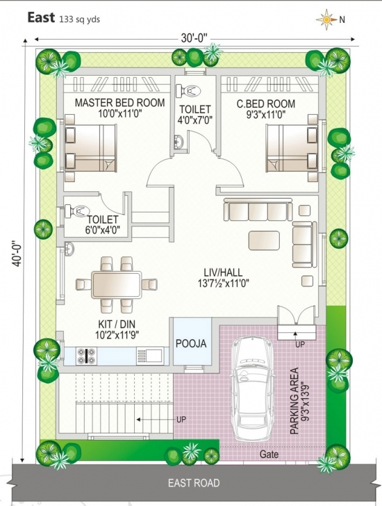 Interesting House Plan House Plan Design 30X40 East Facing Site Homes Zone Vastu 30 X 40 House Plans East Facing With Vastu Picture