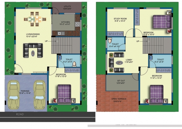 Interesting House Plans East Facing Two Roads - Architecture Plans | #55442 30 X 40 House Plans East Facing 2 Storey House Pic