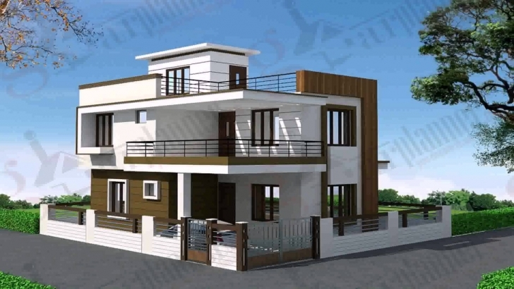 Interesting House Plans Indian Style 30 40 - Youtube Front Elevation Duplex Banglo Com Pic