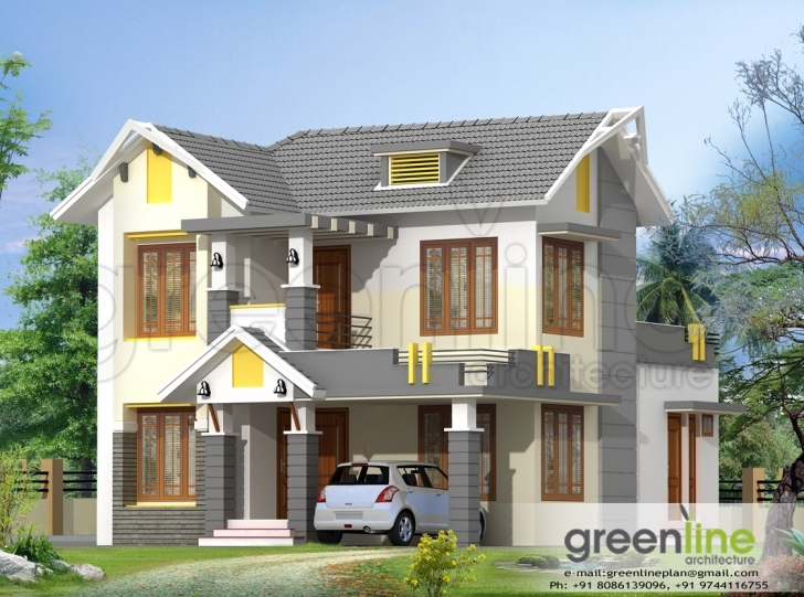 Interesting Kerala House Model Elevations - Building Plans Online | #15542 New House Model Kerala Photo