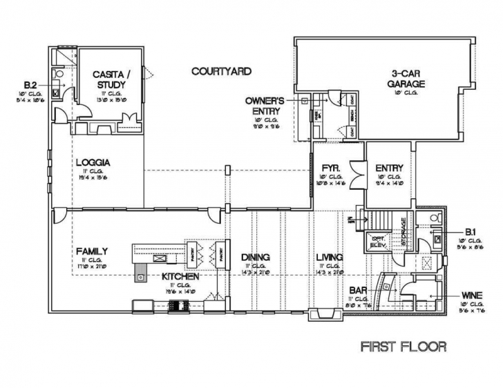 Interesting L Shaped House Plans With Courtyard Unique Plan Two Story Bright L Shaped House Plans With Courtyard Pic