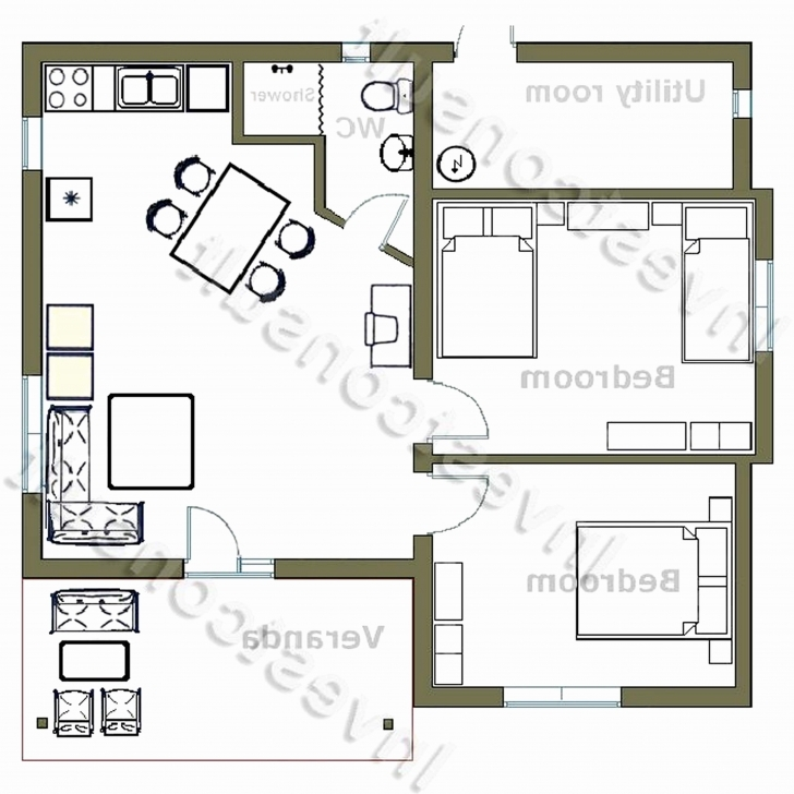 Interesting Lovely 2 Bedroom House Floor Plans 4 South Africa Beautiful | Home Small 2 Bedroom House Plans South Africa Photo