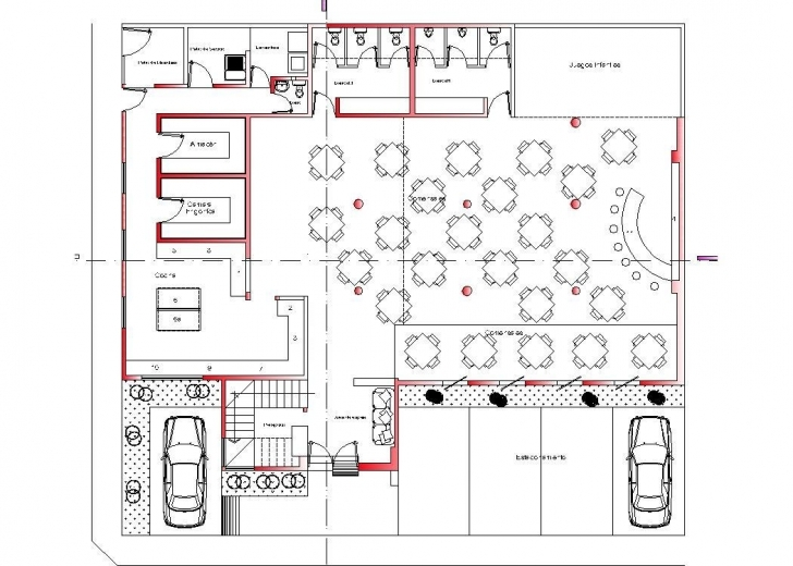 Interesting Restaurant, Hotel, Roof Top Hotel 2D Dwg Plan For Autocad • Designs Cad Autocad Plan 2D Top Photo