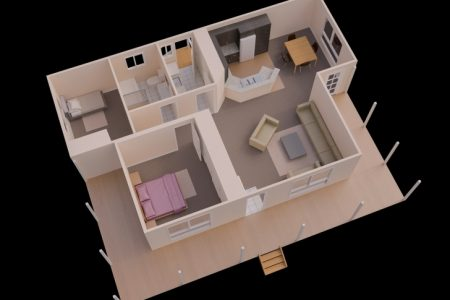 Simple House Plan With 2 Bedrooms In India