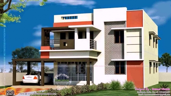 Interesting Single Floor House Front Collection With Attractive 2 Elevation Simple House Front Elevation Designs Image
