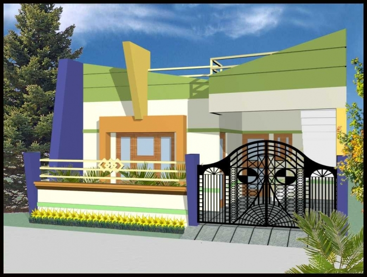 Interesting Single Floor House Front View Designs With Modern Collection Picture Slab Front Design Photo
