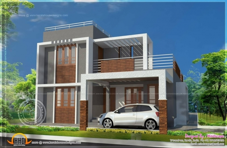 Interesting Small Indian House Plans Modern | Flat Roof Design | Pinterest Small Indian House Plan Images Pic