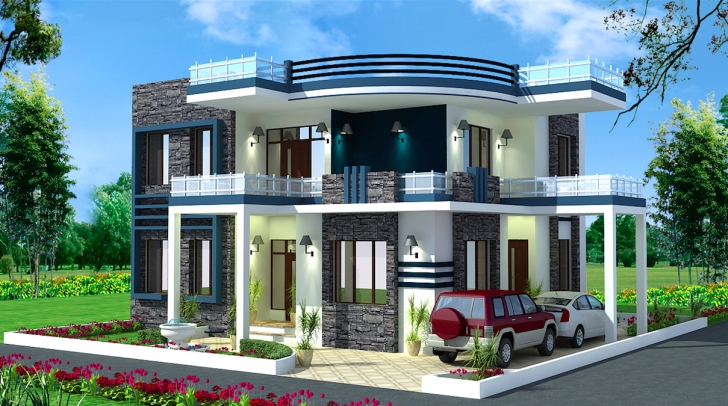 Interesting Spectacular Modern Residential Villas Plan Everyone Will Like New House Plans 2017 India Image