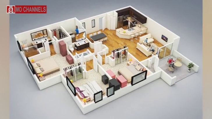 Latest Best 30 Home Design With 3 Bedroom Floor Plans Ideas - Youtube 3 Bedroom House Plan Image