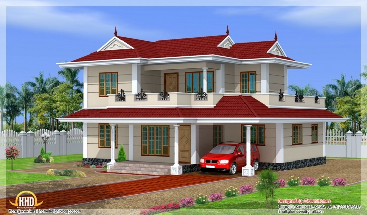 Latest Bhk Double Storey House Design Kerala Home Floor Plans - Building Double Storey House Plans In Kerala Picture