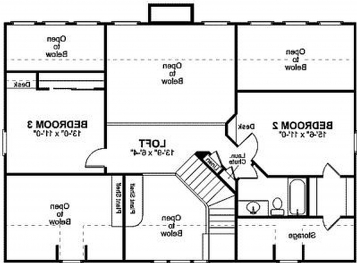 Latest Home Architecture: Floor Plan For A Small House Sf With Bedrooms And Draw 3 Bedroom House Image