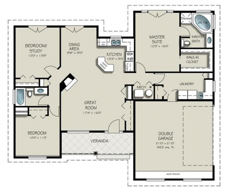 Marvelous 1400 Square Foot House Plans - Homes Floor Plans 1500 Sq Ft House Plans Without Garage Picture