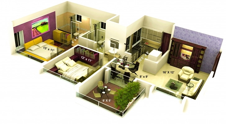 Marvelous 1500 Sq Ft House Plans With Front Elevation - Decohome 16 Feet Foront Photo