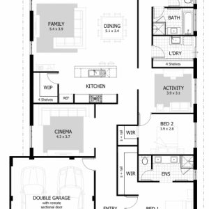 Simple House Plan With 4 Bedrooms