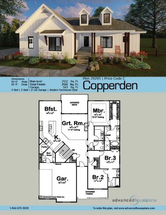 Marvelous Copperden | Front Porches, Porch And Story House Modern Farmhouse Plans One Story Pic