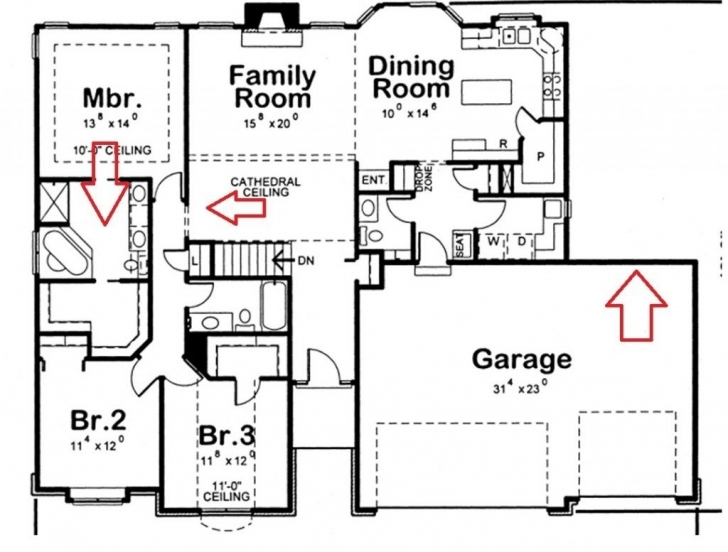 Marvelous Home Architecture: Bedroom House Drawing Plans Home Deco Plans 3 How To Draw A 3 Bedroom House Picture