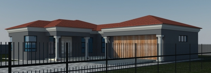 Marvelous Home Architecture: Bedroom House Plans Tuscan Single Storey House South African Modern Houses Designs Image